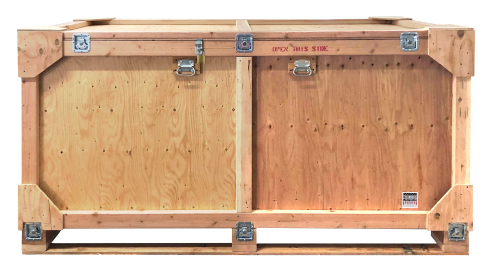 trade show crate with locks
